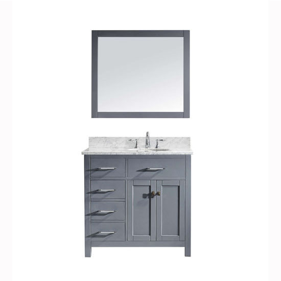 Virtu Usa Caroline Parkway 36 Single Sink Bathroom Vanity Set With Left Side Drawers In