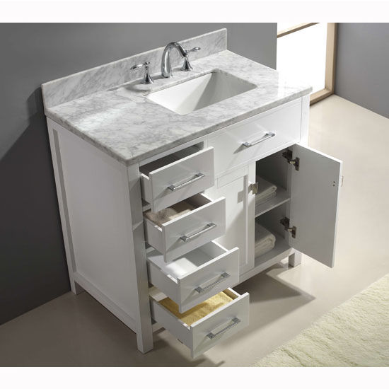 Virtu usa caroline parkway 36 single sink bathroom vanity for Virtu usa caroline 36 inch single sink bathroom vanity set