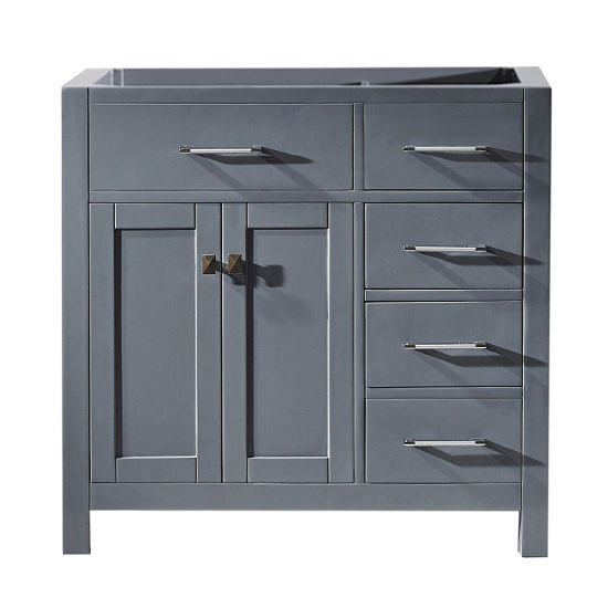 Bathroom Vanities 36 Caroline Parkway Single Bathroom Vanity With Left Or Right Drawers In Multiple Finishes By Virtu Kitchensource Com