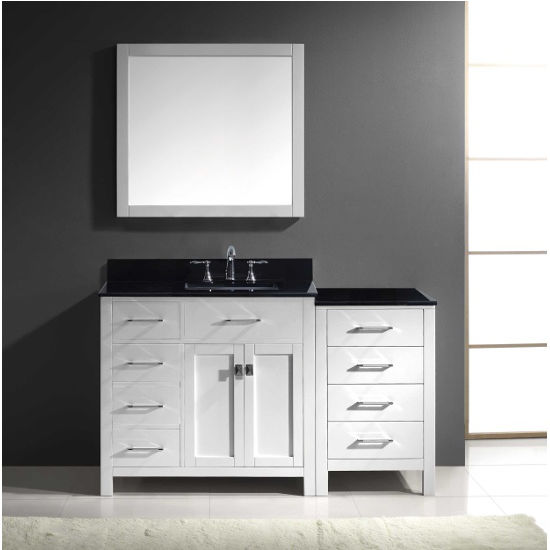 Virtu Usa Caroline Parkway 36 Single Sink Bathroom Vanity Set With Side Drawers Side Cabinet