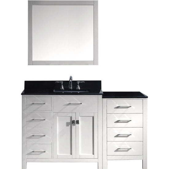 Virtu Usa Caroline Parkway 36 Single Sink Bathroom Vanity Set With Left Side Drawers Side