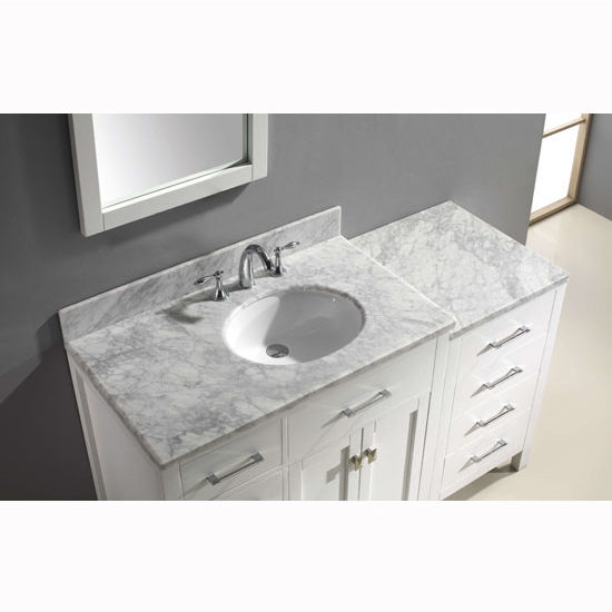 Bathroom Vanities, Virtu USA 57\'\' Caroline Parkway Single Round or ...