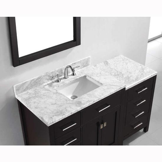 View Larger Image. Bathroom Vanities  Virtu USA 57   Caroline Parkway Single Round or