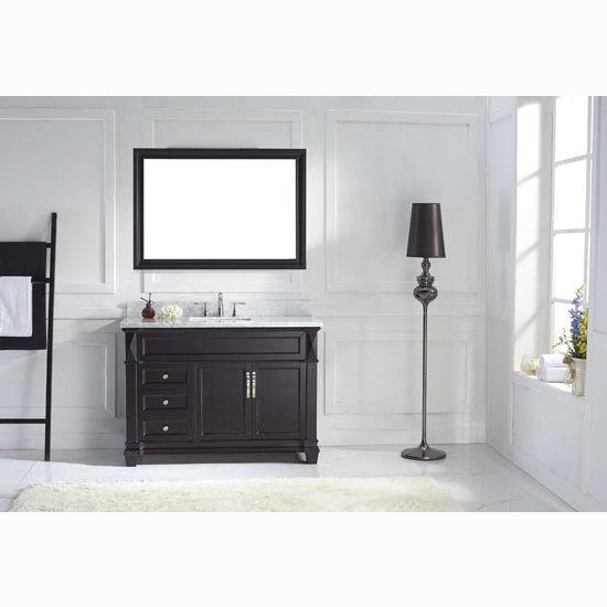 Espresso w/ Round Sink Vanity Set