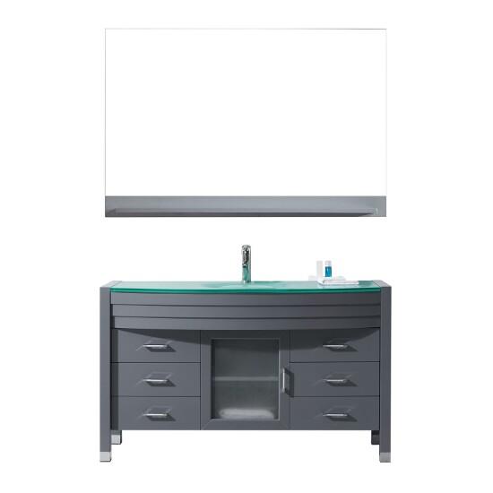 Ava collection 55quot freestanding single bathroom vanity set for Ava bathroom furniture