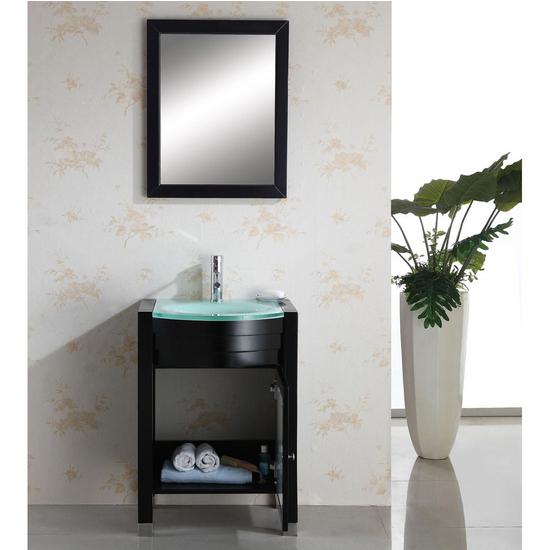 "Virtu Ava 24"" Contemporary Single Bath Vanity Set"