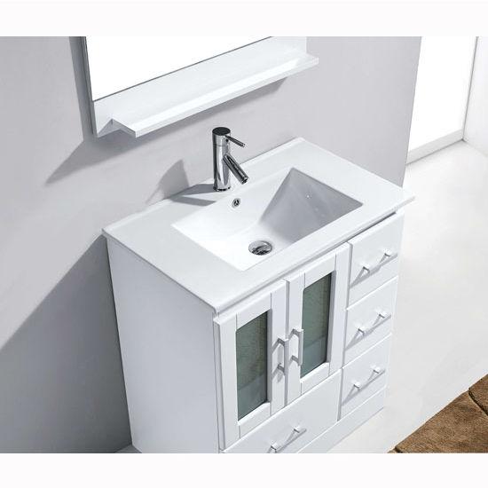 Zola Bathroom Mirrors bathroom vanities, 30'' zola single basin white countertop