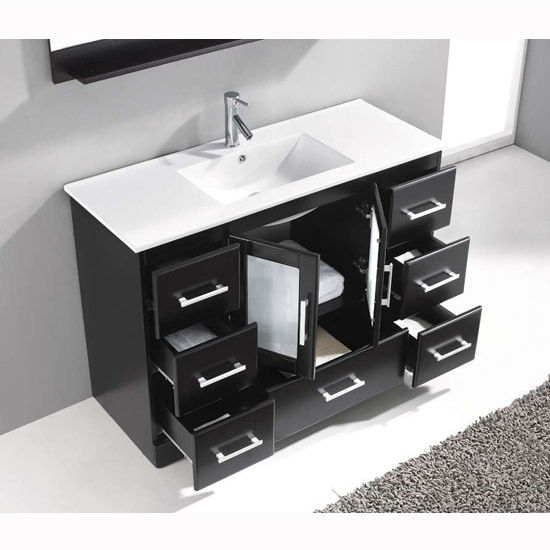 Zola Collection 48 Freestanding Single Bathroom Vanity Set In Multiple Finishes Set Includes