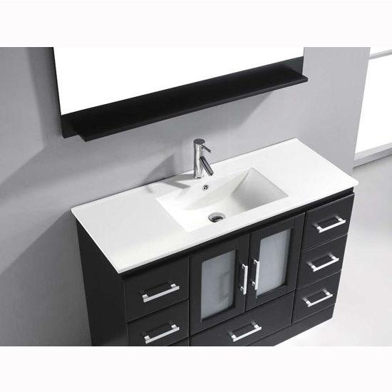 "Zola Bathroom Mirrors zola collection 48"" freestanding single bathroom vanity set in"