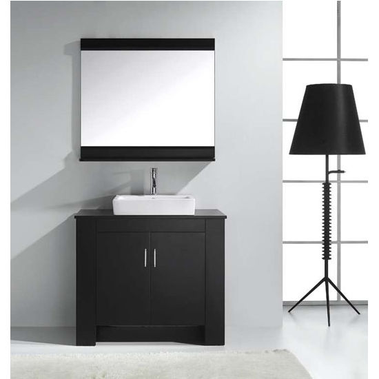 Espresso Left Vanity Set