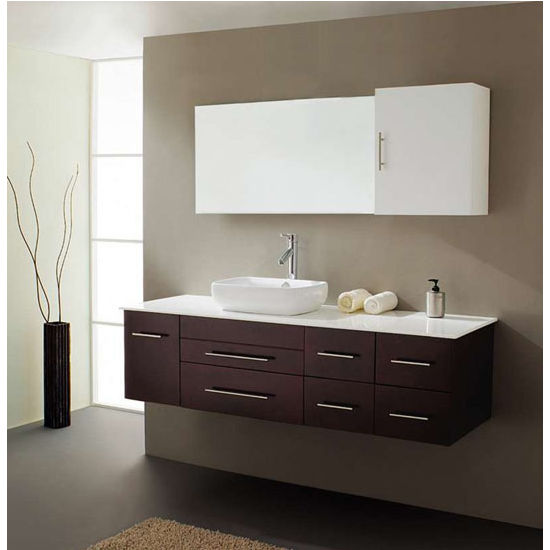 Bathroom Vanities Virtu Usa Justine 59 Wall Mounted