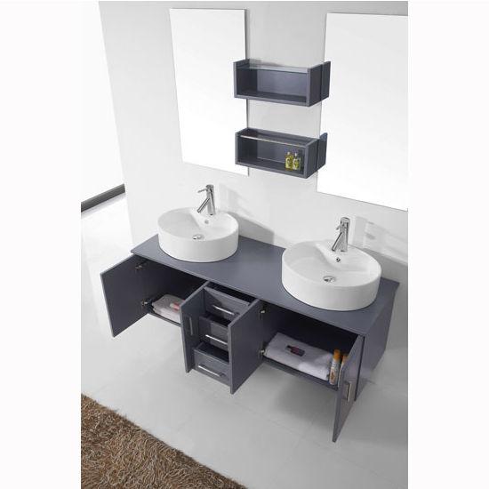 Bath Vanities Enya Complete Wall Mounted Double Bath Vanity Set By Virtu Usa