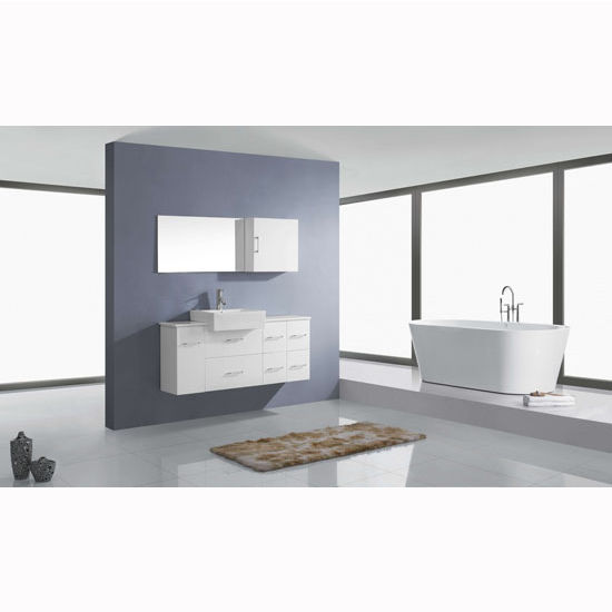 Bathroom Vanities 55 39 39 Hazel Wall Mounted Single Sink Bathroom Vanity Set In Multiple Finishes