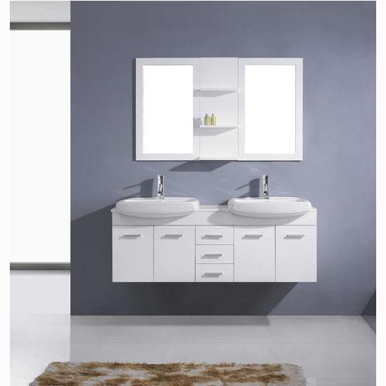 Bath Vanities Ophelia Complete Wall Mounted Double Bath