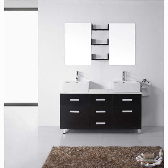 Bath vanities maybell complete double bath vanity set in Complete bathroom vanity