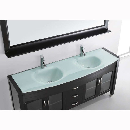 Bath vanities ava complete double bath vanity set in Complete bathroom vanity