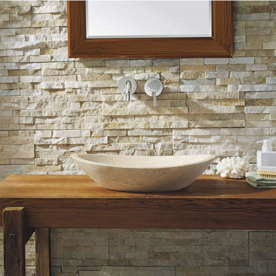 Beige Travertine Marble Vessel Sink