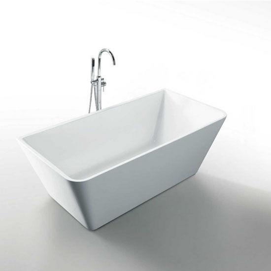 "Virtu USA Serenity 67"" Freestanding Soaking Bath Tub in White, 67"" W x 31-5/16"" D x 23-3/5"" H"