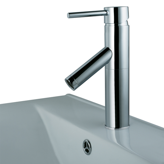 Vigo Single Handle Chrome Finish Faucet, Down Angle