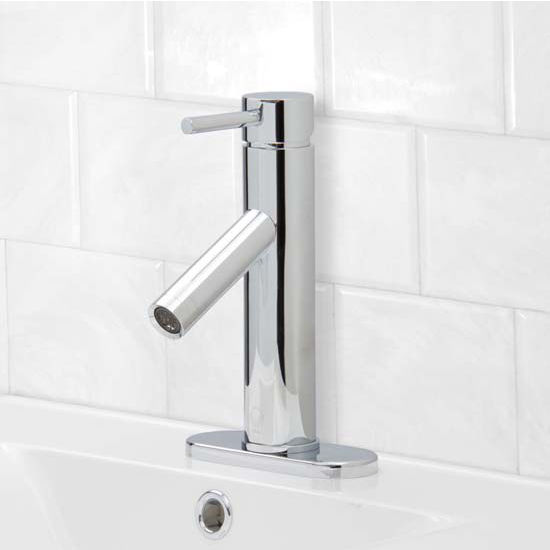Vigo VIG-VG01008CHK1, Single Lever Chrome Finish Faucet with Deck Plate