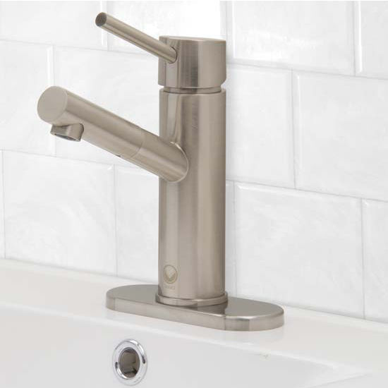 Vigo VIG-VG01009BNK1, Noma Single Lever Brushed Nickel Finish Faucet with Deck Plate