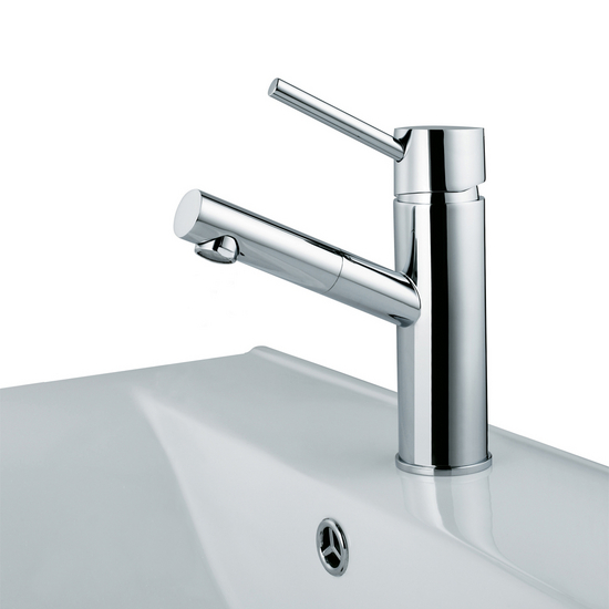 Vigo Noma Single Handle Chrome Finish Faucet, Up Angle
