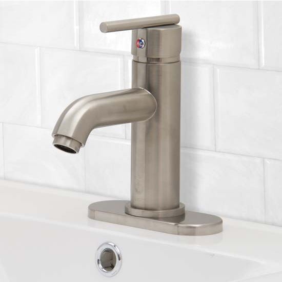 Vigo VIG-VG01038BNK1, Setai Single Handle Brushed Nickel Bathroom Faucet with Deck Plate