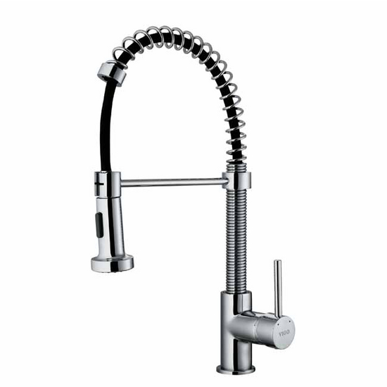 Vigo Pull Out Spray Kitchen Faucet 18 3 8 39 39 Spout Height