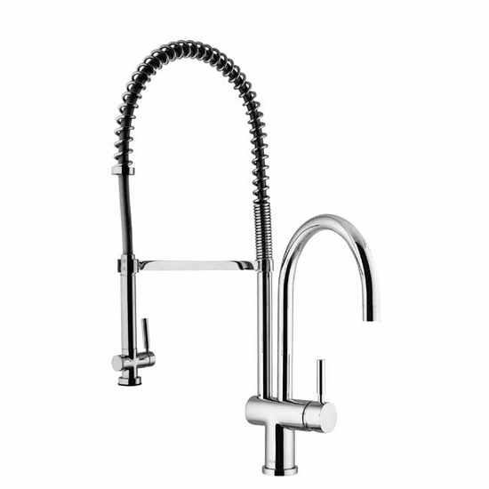 Vigo Chrome Spring Pull-Down Spray Kitchen Faucet