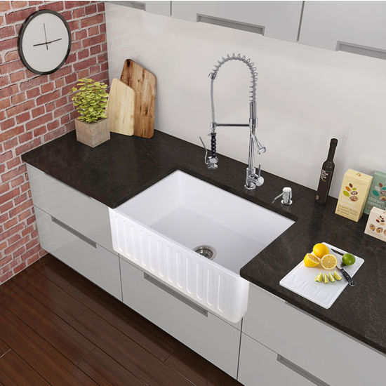 Chrome Curved Pull-Down Spray Kitchen Faucet