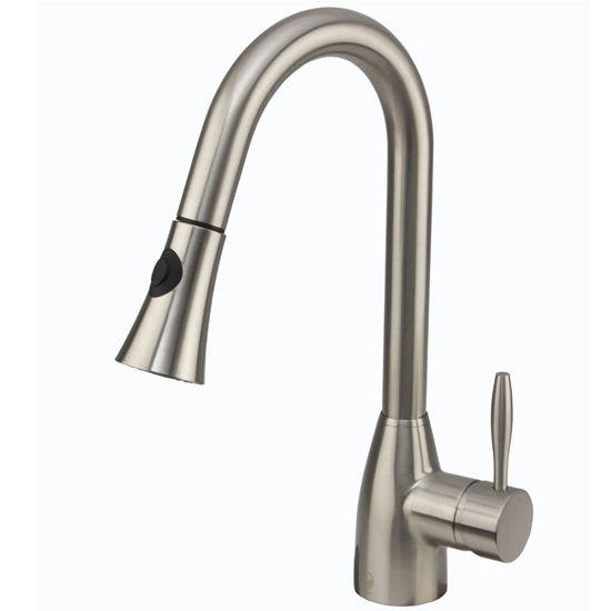 vigo pull out spray kitchen faucet 16 spout height