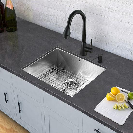 Graham Pull-Down Spray Kitchen Faucet, Matte Black, 24''W x 3''D x 12''H
