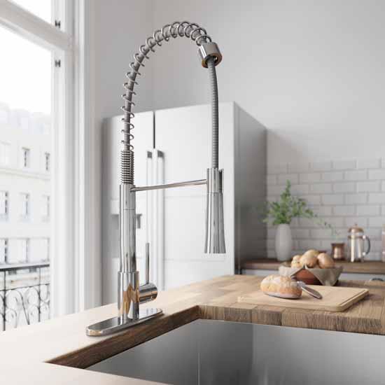 Vigo Chrome with Deck Plate Lifestyle 1