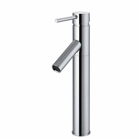 Vigo Chrome Finish Bathroom Vessel Faucet, Down Handle