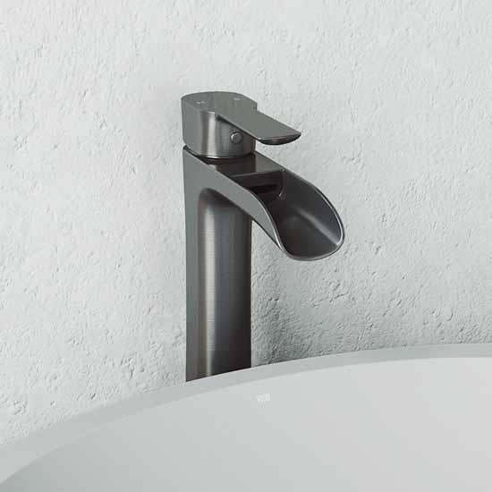 Vigo Graphite Black Faucet Lifestyle 1