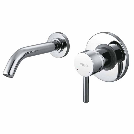 Vigo Single Handle Wall Mount Chrome Faucet
