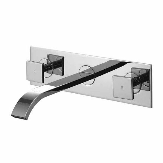 Vigo Dual Handle Wall Mount Chrome Faucet