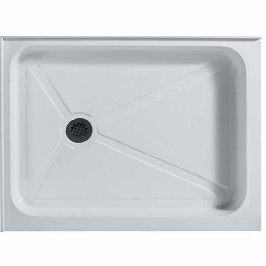 "Vigo 32"" x 40"" Rectangular Shower Tray White Left Drain"