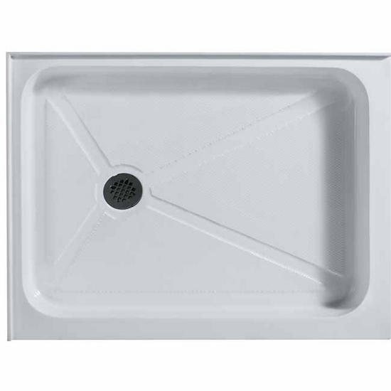 "Vigo 32"" x 48"" Rectangular Shower Tray White Left Drain"