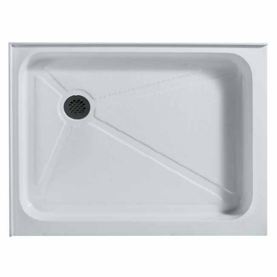 "Vigo 36"" x 48"" Rectangular Shower Tray White Left Drain"