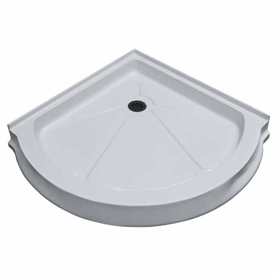 "Vigo 36"" x 36"" Round Shower Tray White"