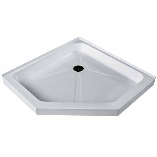 Vigo 36 X 36 Short - Low Profile Neo-Angle Shower Tray In White