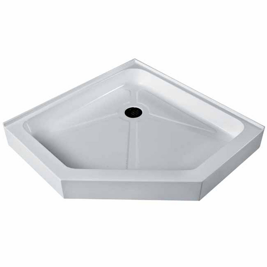 "Vigo 36"" x 36"" Neo-Angle Shower Tray White"