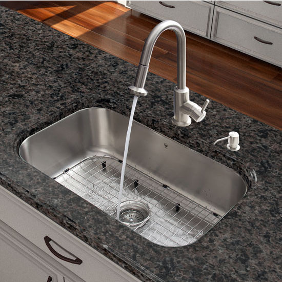 kitchen sinks, vig-vg15283 all in one 30-inch undermount stainless