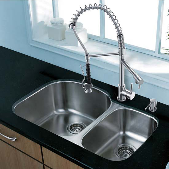 Vigo VIG-VG15304, All in One 31'' Undermount Stainless Steel Kitchen Sink and Faucet Set