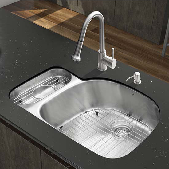 Vigo VIG-VG15322, All in One 32'' Undermount Stainless Steel Kitchen Sink and Faucet Set