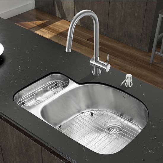 Vigo VIG-VG15327, All in One 32'' Undermount Stainless Steel Kitchen Sink and Faucet Set