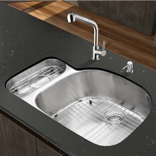 Vigo VIG-VG15329, All in One 32'' Undermount Stainless Steel Kitchen Sink and Faucet Set