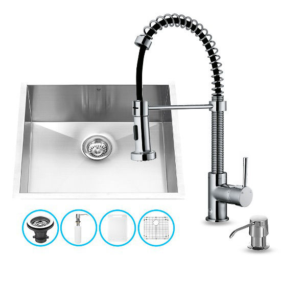 Vigo 23 Undermount Sink Faucet Strainer Grid And Soap