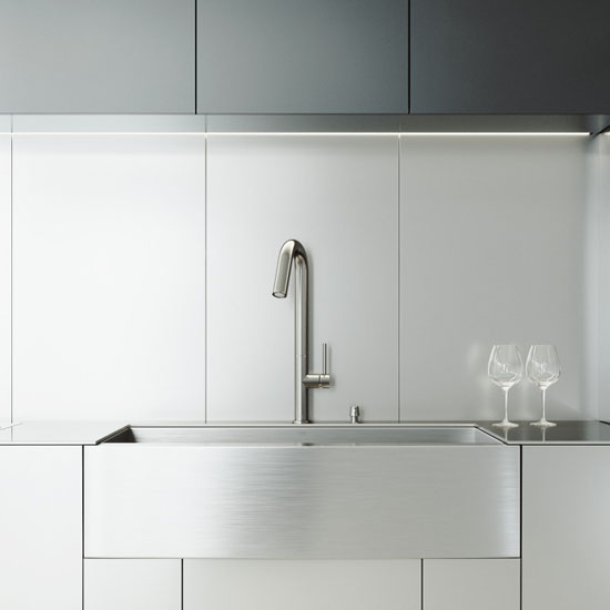 Pazo Industries Vg15002 Farmhouse Faucet Dispenser All: All-In-One Camden Stainless Steel Farmhouse Kitchen Sink